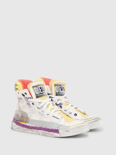 Diesel - S-ASTICO PNT W, Bianco/Rosa - Sneakers - Image 2