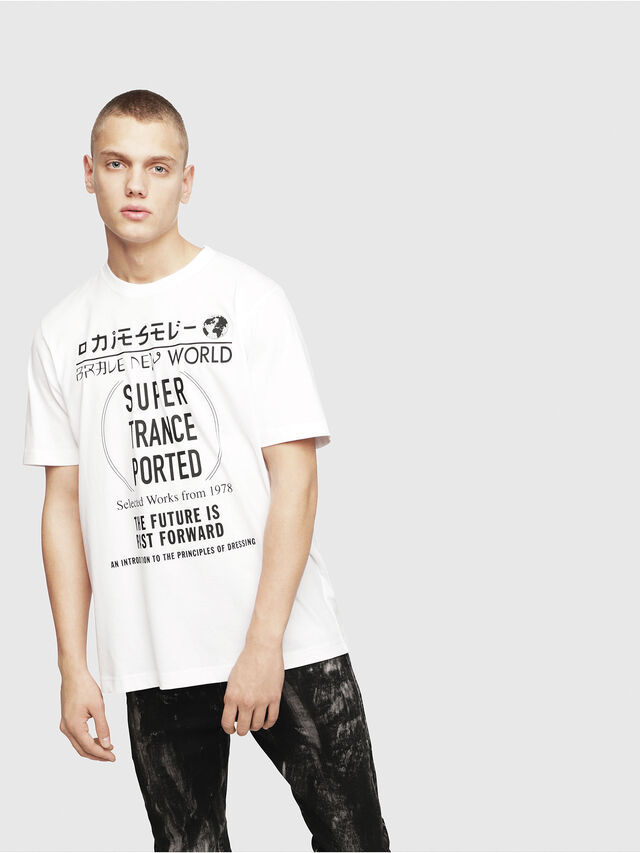 Diesel - T-JUST-YL, Bianco - T-Shirts - Image 1