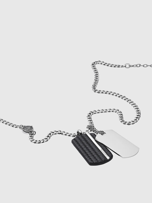Diesel - NECKLACE DX1040, Argento - Collane - Image 2