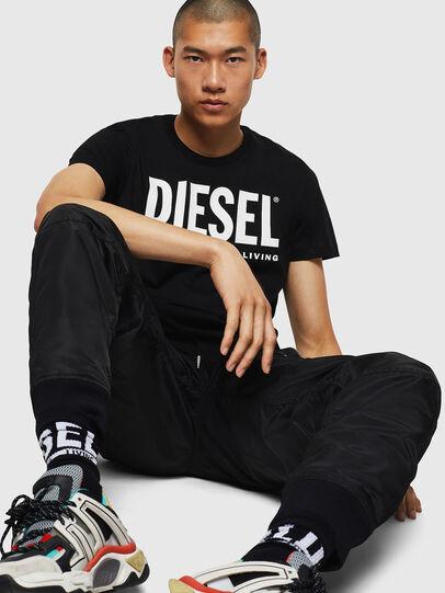 Diesel - T-DIEGO-LOGO, Nero - T-Shirts - Image 5