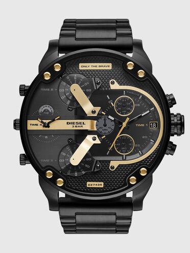 Cronografo Mr. Daddy 2.0 con cinturino in acciaio inossidabile nero