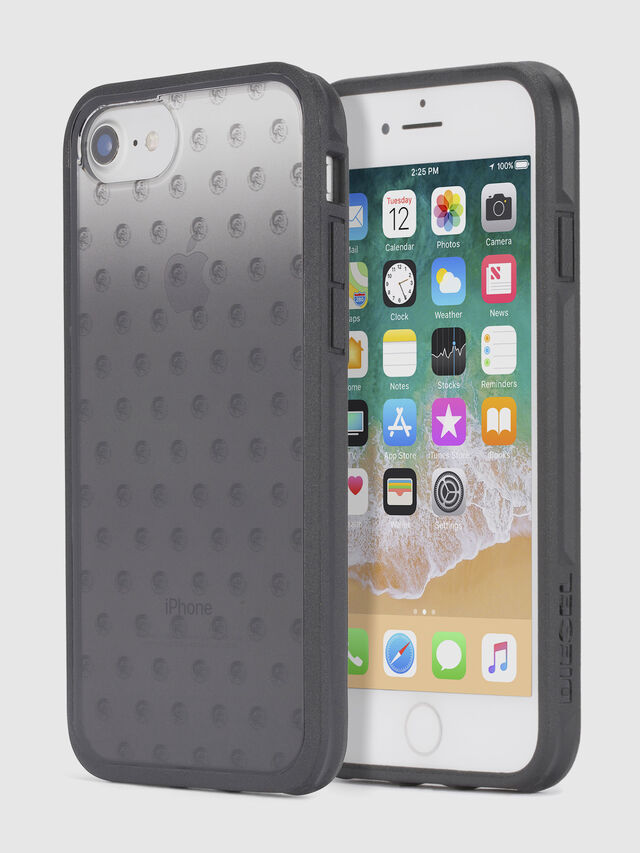 Diesel - MOHICAN HEAD DOTS BLACK IPHONE 8/7/6s/6 CASE, Nero - Cover - Image 1