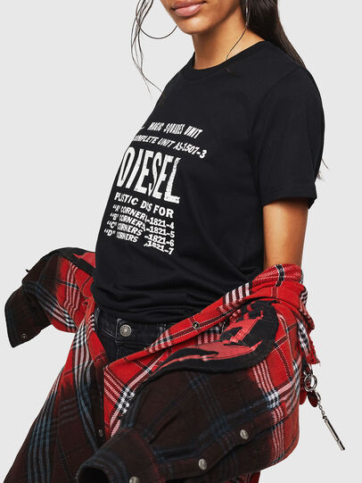 Diesel - T-SILY-ZF, Nero - T-Shirts - Image 5