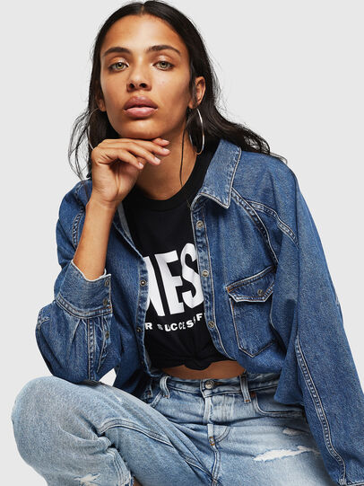 Diesel - T-SILY-WX, Nero - T-Shirts - Image 5