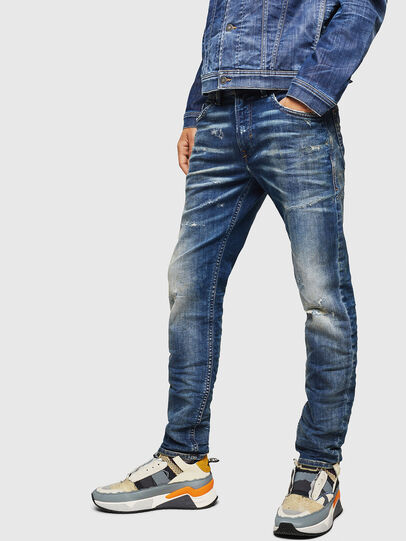 Diesel - Thommer JoggJeans 0870Q, Blu medio - Jeans - Image 4