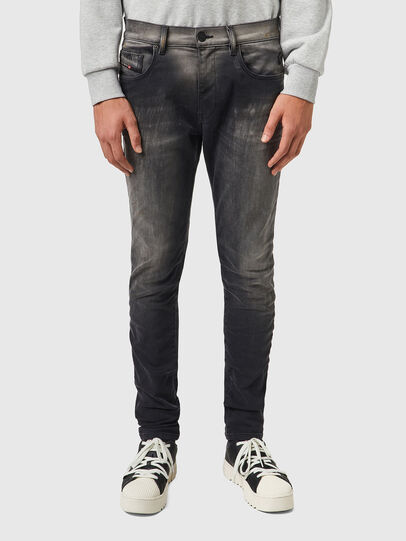 Diesel - D-Strukt JoggJeans® 09B04, Nero/Grigio scuro - Jeans - Image 1