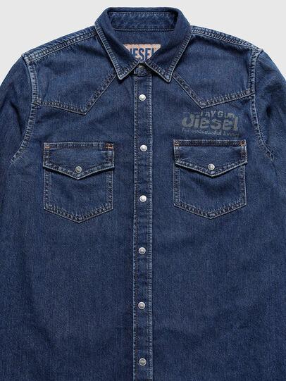 Diesel - US-D-EAST-P, Blu medio - Camicie in Denim - Image 3