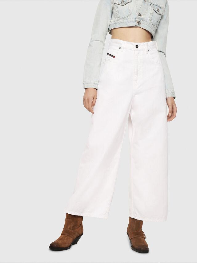Diesel - D-Luite 069EE, Bianco - Jeans - Image 1