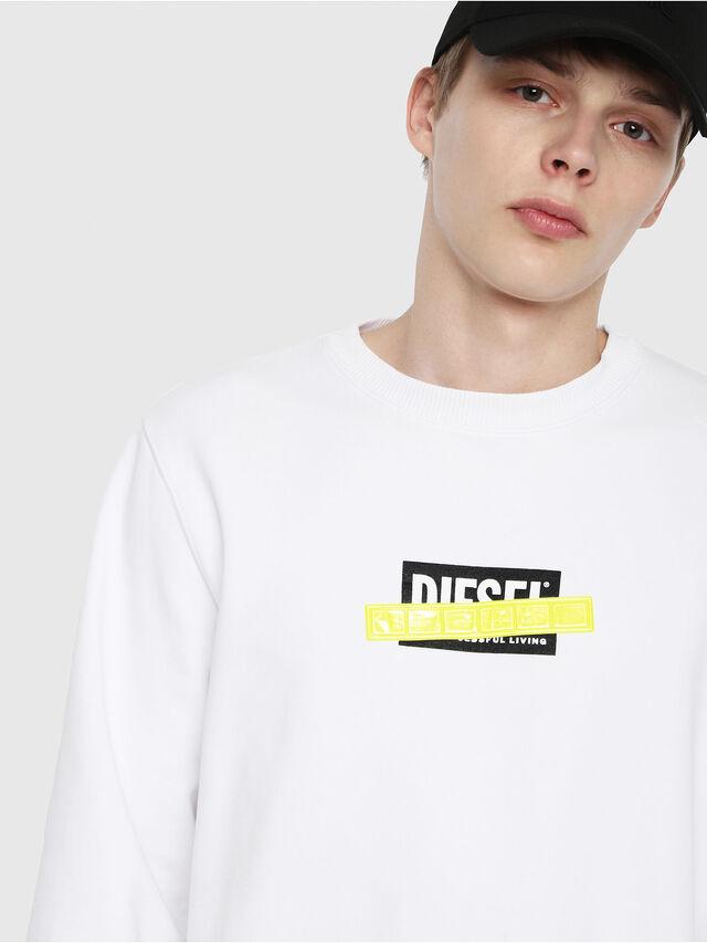 Diesel - S-GIR-DIE, Bianco - Felpe - Image 3