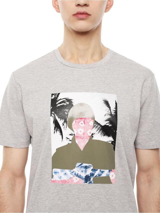 Diesel - TY-SOLDIER, Grigio - T-Shirts - Image 3