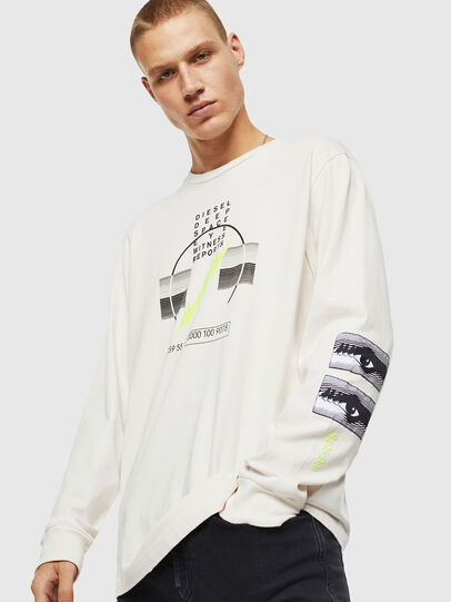 Diesel - T-JUST-LS-J3, Bianco - T-Shirts - Image 1