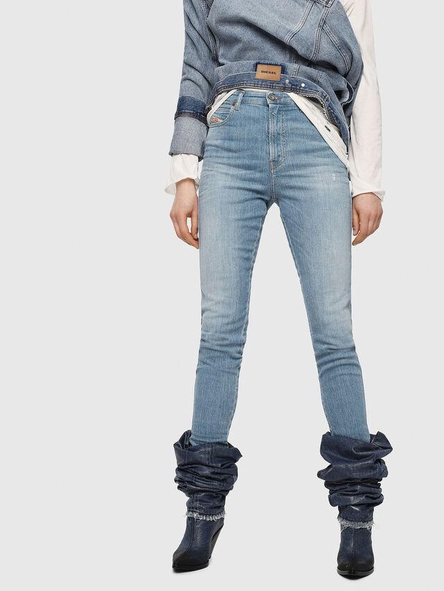 Diesel - Babhila High 081AF, Blu Chiaro - Jeans - Image 1