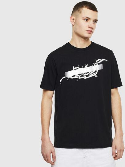 Diesel - T-JUST-T11, Nero - T-Shirts - Image 1