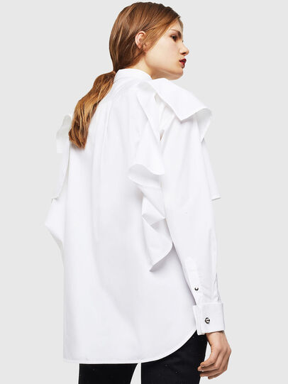 Diesel - C-RAILY-SHAPED, Bianco - Camicie - Image 2