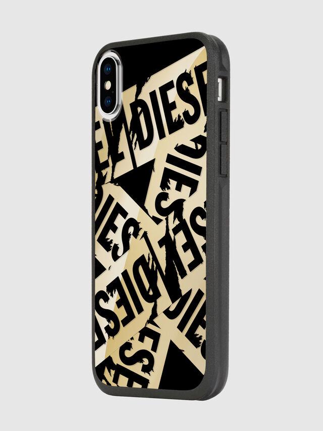 Diesel - MULTI TAPE GOLD/BLACK IPHONE X CASE, Oro - Cover - Image 5