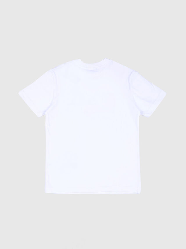 Diesel - TDIEGO, Bianco/Rosso - T-shirts e Tops - Image 2