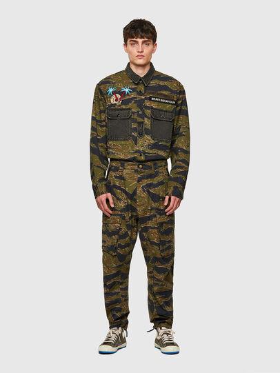 Diesel - P-BARTON, Verde Militare - Pantaloni - Image 6