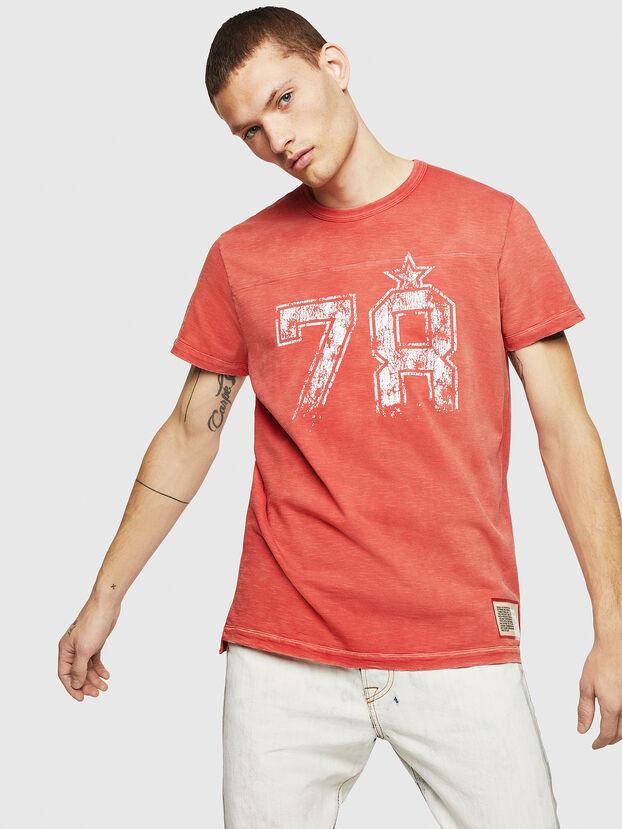 T-DIEGO-CUT-AB, Rosso Fuoco - T-Shirts