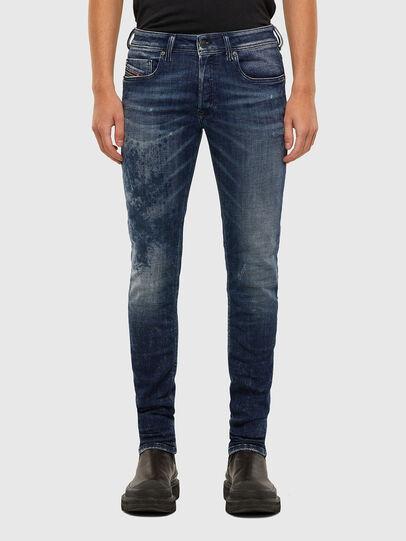 Diesel - Sleenker 009JM, Blu Scuro - Jeans - Image 1