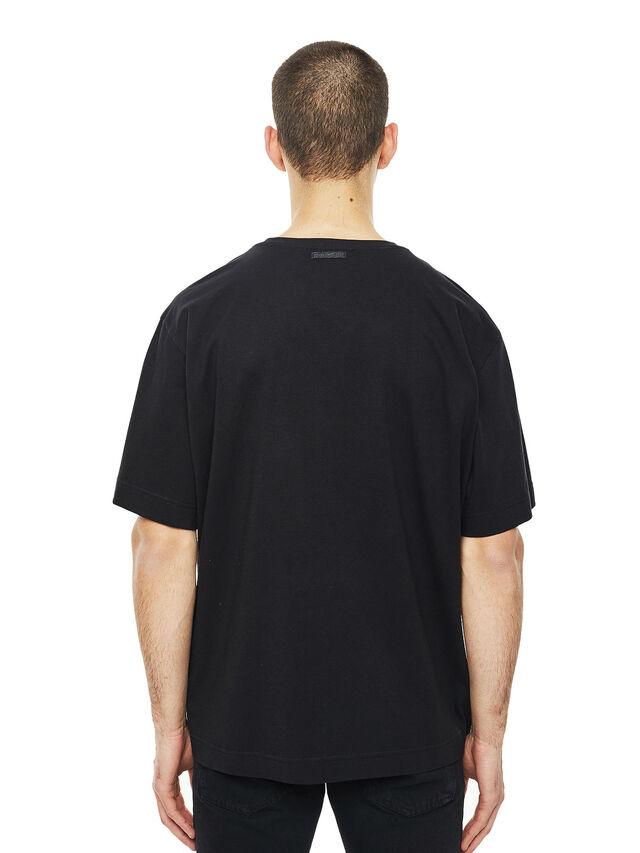 Diesel - TEORIAL-COWBOY, Nero - T-Shirts - Image 2