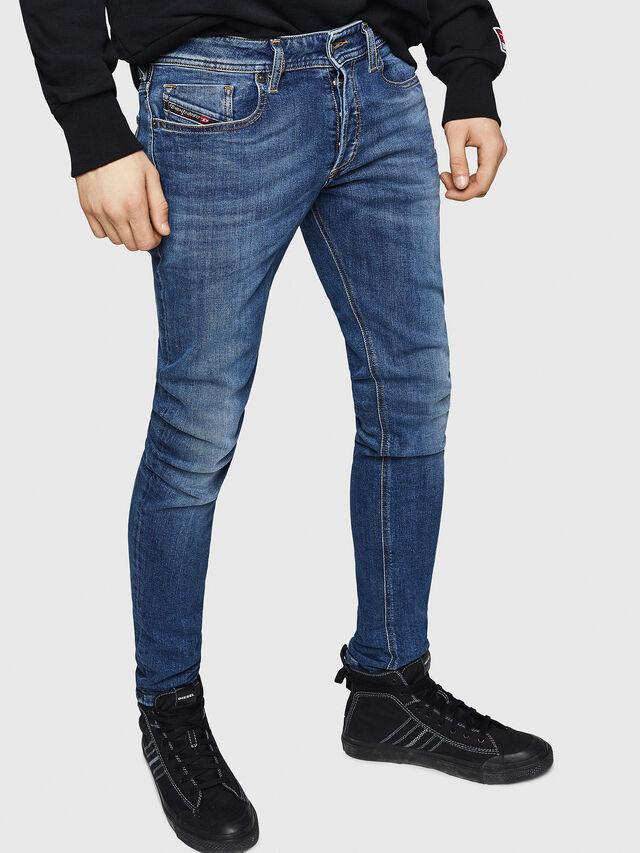 Diesel - Sleenker 069FZ, Blu medio - Jeans - Image 1