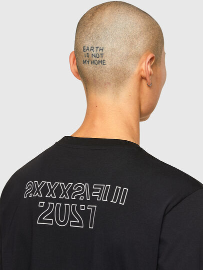 Diesel - CL-T-JUST-LS-O, Nero - T-Shirts - Image 5