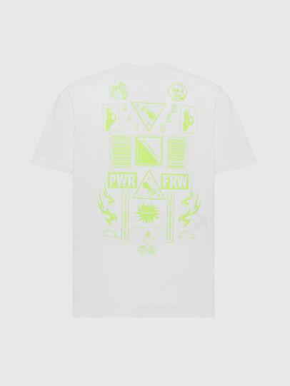 Diesel - T-JUST-SLITS-X84, Bianco - T-Shirts - Image 2