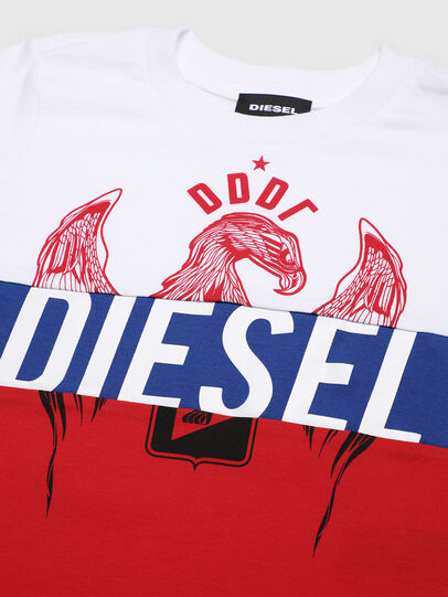 Diesel - TRICKYB-R, Bianco/Rosso/Blu - T-shirts e Tops - Image 3