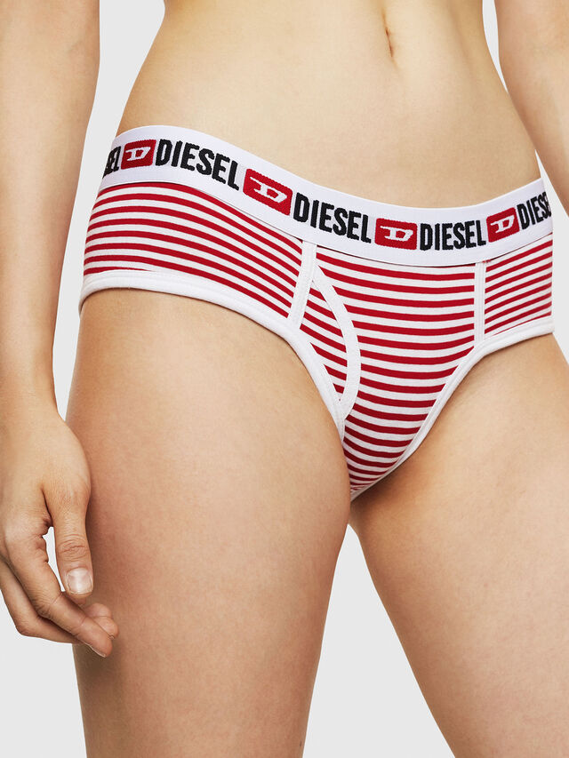 Diesel - UFPN-OXY, Rosso/Bianco - Culottes - Image 3