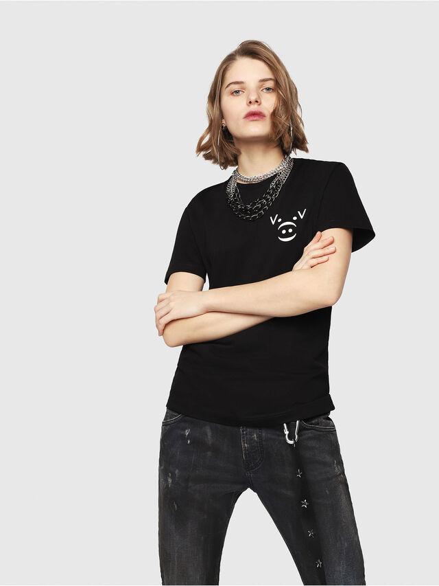 Diesel - CL-T-GADIE, Nero - T-Shirts - Image 2