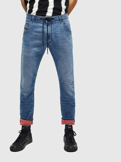 Diesel - Krooley JoggJeans 069MA, Blu medio - Jeans - Image 1