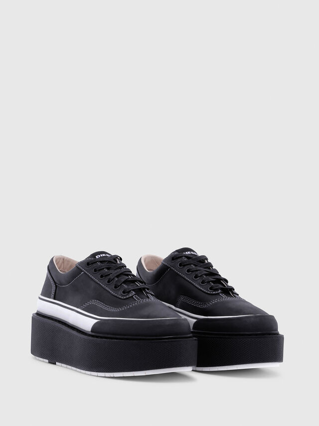 Diesel - H-SCIROCCO LOW, Nero/Bianco - Sneakers - Image 2