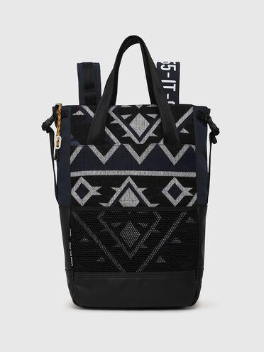 Borsa shopping trasformabile con motivo Navajo
