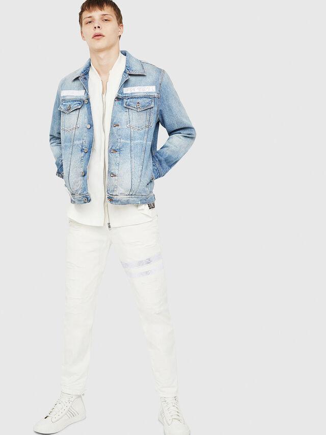 Diesel - NHILL-TM, Blu Jeans - Giacche in denim - Image 5