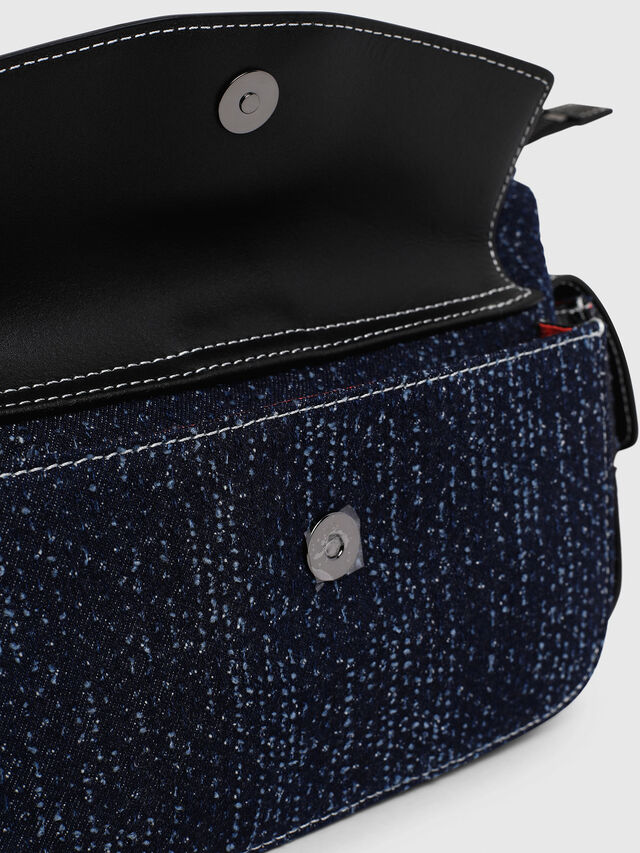 Diesel - MISS-MATCH SATCHEL M, Blu Jeans - Cartelle e Borse a Mano - Image 5