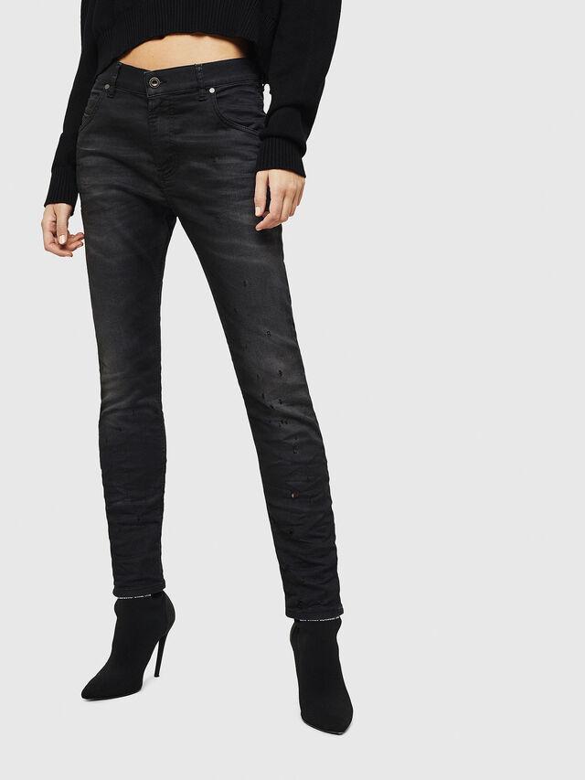 Diesel - Krailey JoggJeans 069GN, Nero/Grigio scuro - Jeans - Image 1