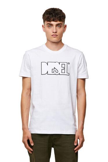 T-shirt Green Label con applicazione in pile