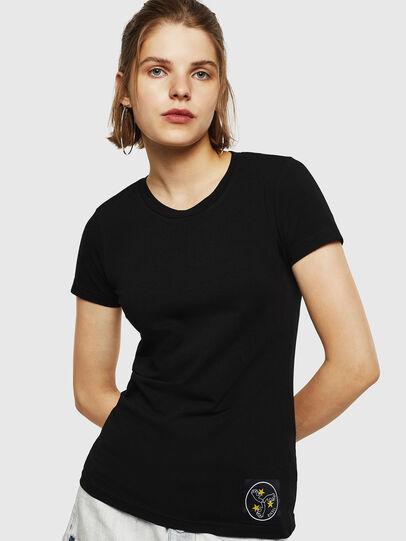Diesel - T-SUPERY-G, Nero - T-Shirts - Image 1