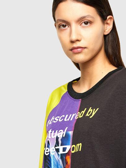 Diesel - T-KIM, Viola/Nero - T-Shirts - Image 4
