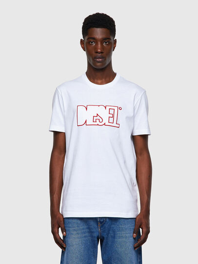 Diesel - T-DIEGOS-B8, Rosso/Bianco - T-Shirts - Image 1