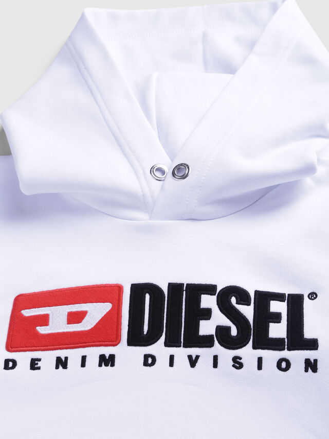 Diesel - SDIVISION OVER, Bianco - Felpe - Image 3