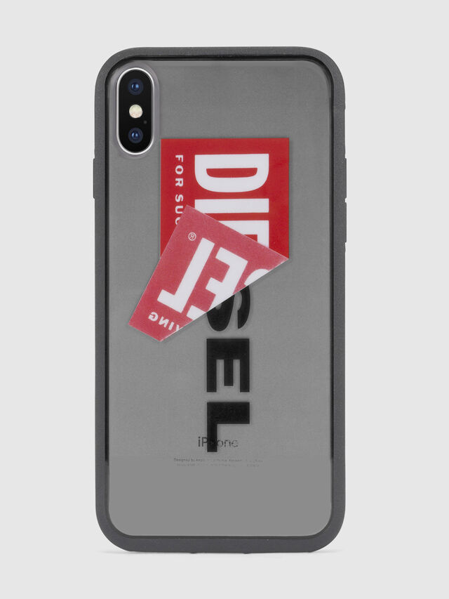 Diesel - STICKER IPHONE X CASE, Nero - Cover - Image 2