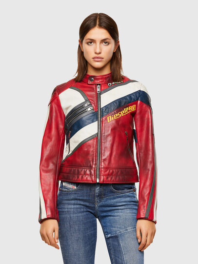 Diesel - L-POLLY, Rosso - Giacche di pelle - Image 1