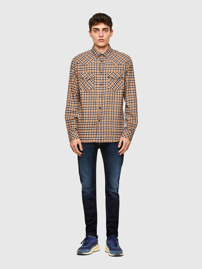 Diesel - S-EAST-LONG-CHK-B, Rosa/Nero - Camicie - Image 4