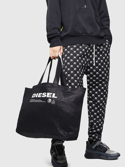 Diesel - D-THISBAG SHOPPER L, Nero - Shopper e Borse a Spalla - Image 6