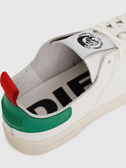 Diesel - S-CLEVER LS, Bianco/Verde - Sneakers - Image 4