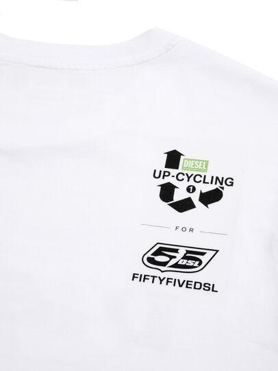 Diesel - D-55LOGO, Bianco - T-Shirts - Image 4