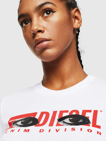 Diesel - T-SILY-YD, Bianco - T-Shirts - Image 3
