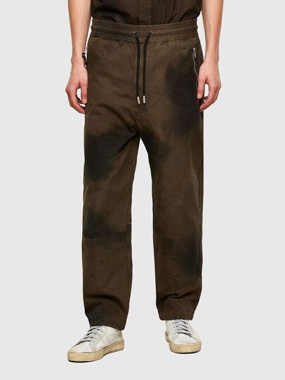 Diesel - P-HILL, Verde Militare - Pantaloni - Image 1