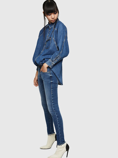 Diesel - Slandy Low 083AN, Blu medio - Jeans - Image 5